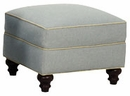 "Evelyn ""Designer Style"" Fabric Upholstered Ottoman"