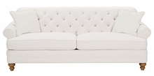 Evelyn Fabric Upholstered Tufted Sofa