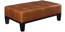 Felix Leather Oversized Bench Ottoman
