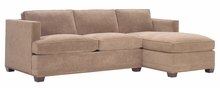 Finley Fabric Upholstered Sectional With Nailhead Trim