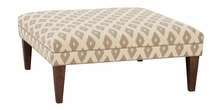 Fisher Oversized Square Fabric Cocktail Ottoman
