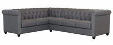 Fitzgerald Chesterfield Tufted Leather Sectional