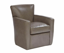 "Frances ""Quick Ship"" Tight Back Leather Swivel Chair"