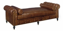 Frazier Leather Tufted Large Daybed