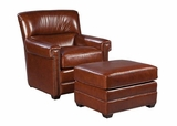 "Gaines ""Quick Ship"" Leather Accent Chair"
