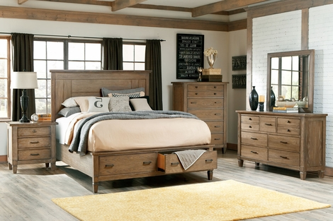 Gavin Wood Bedroom Furniture Collection