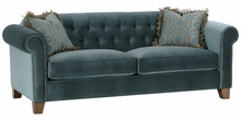 Genevieve Button Tufted Fabric Couch