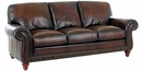Gerard Traditional Old World Leather Sofa