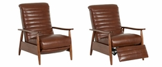 Giles Mid-Century Modern Leather Recliner