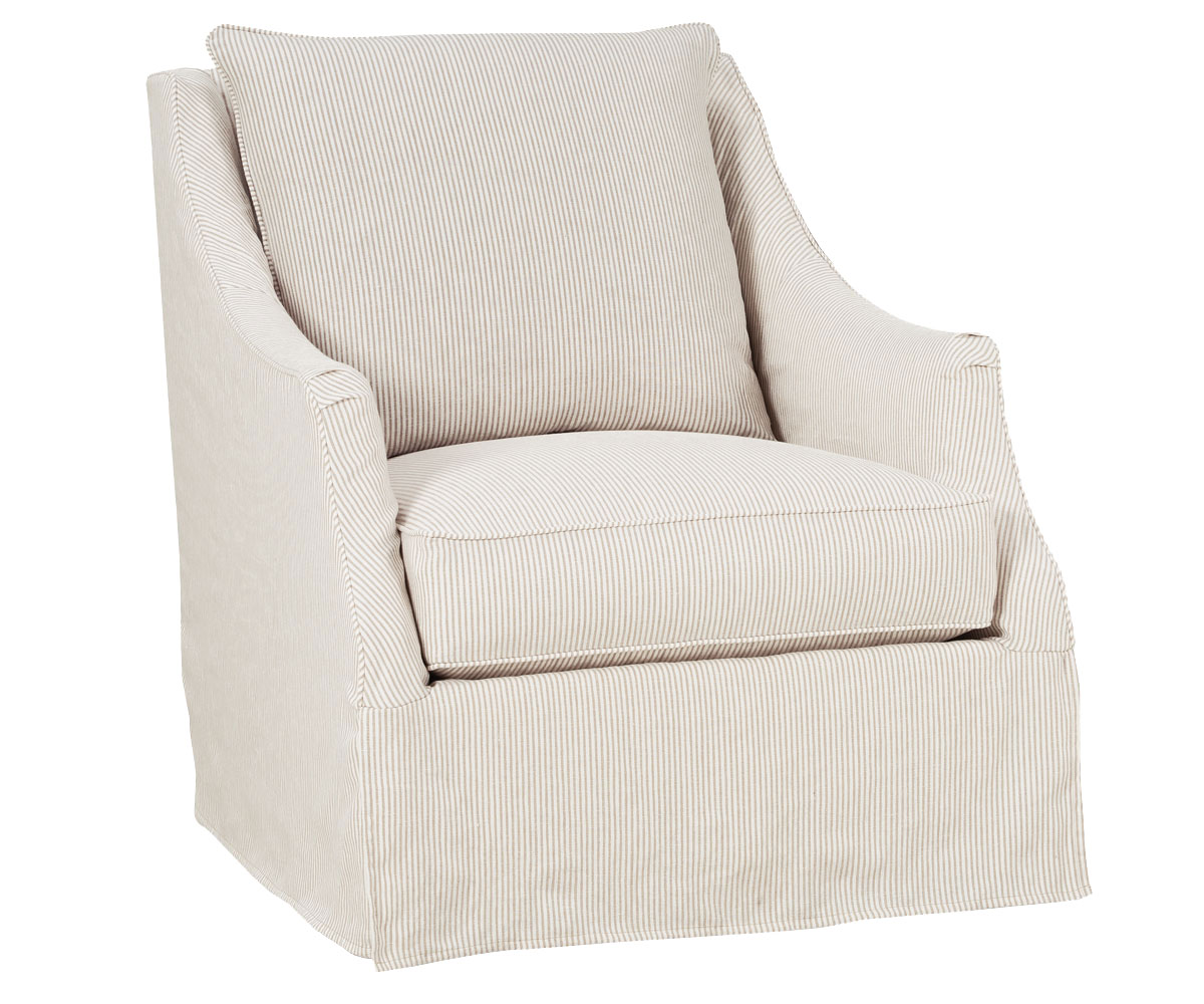 Giuliana Quot Designer Style Quot Swivel Slipcover Chair