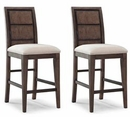 Grant Casual Modern Counter Height Chairs (Set of 2)