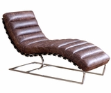 "Gunnar ""Quick Ship"" Contemporary Leather Chaise"