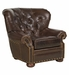 Hadley Designer Style Leather Accent Chair w/ Tufted Back