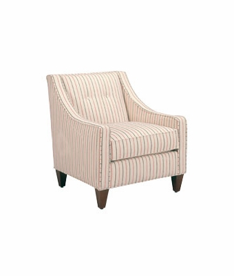 fabric button back slope arm living room chair