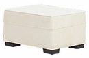Hannah Fabric Upholstered Ottoman