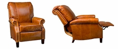 """Hanover """"Designer Style"""" Plush Pillow Back Leather Reclining Chair"""