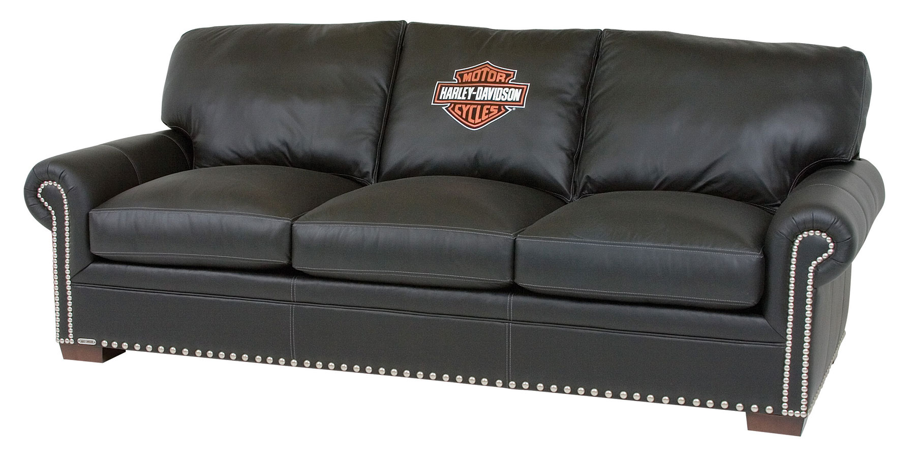Harley Davidson Officially Licensed Black Leather  : harley davidson officially licensed black leather furniture collection 1 from www.clubfurniture.com size 1800 x 900 jpeg 218kB