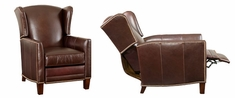"""Harris """"Designer Style"""" Leather Wingback Recliner"""