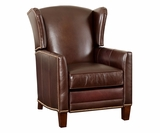 Harris Wingback Leather Recliner