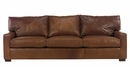 "Harrison ""Designer Style"" Deep Seated Contemporary Leather Sofa"