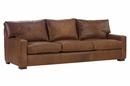 "Harrison ""Designer Style"" Deep Seated Studio Size Contemporary Leather Sofa"