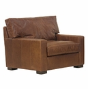 """Harrison """"Designer Style"""" Grand Scale Leather Chair And A Half"""