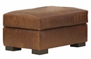"Harrison ""Designer Style"" Grand Scale Leather Ottoman And A Half"