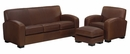 "Hayden ""Designer Style"" Leather Queen Sleeper Sofa Set"