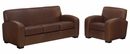 "Hayden ""Designer Style"" Leather Sofa & Recliner Set"