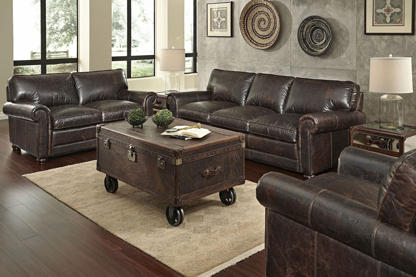 High quality sofas and chairs - Quick Ship 3 Piece Leather Sofa Loveseat Chair Set