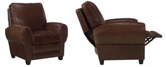 "Hennessey ""Designer Style"" Tall Leather Cigar Chair Recliner"