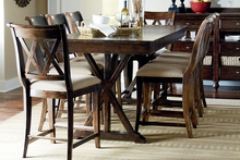 Hunter Pub Height Rustic Casual Dining Set