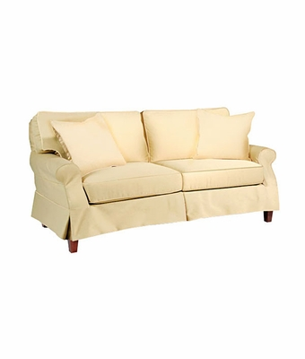 holly slipcovered apartment sleeper sofa