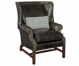 Humphrey Leather Chippendale Library Chair