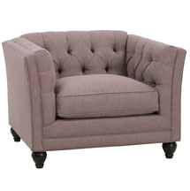 "Isadore ""Designer Style"" Tufted Back Fabric Chair"