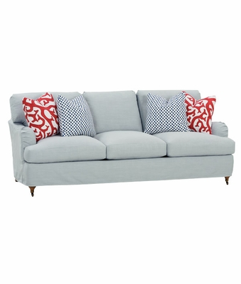 style apartment size slipcovered queen sleeper sofa 2 cushion