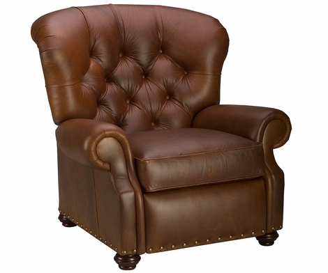 Jackson Tufted Leather Recliner