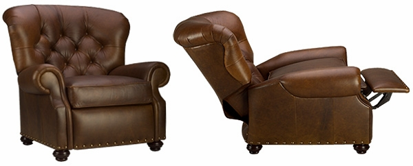 Tufted leather recliner like buster reclining chair