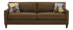 "Janice ""Designer Style"" Contemporary Apartment Size Fabric Upholstered Queen Sleeper Sofa"