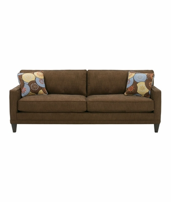 apartment sized 2 cushion queen sleeper sofa w squared arms