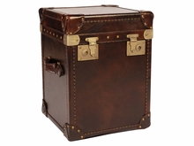 """Hollis """"Ready To Ship"""" Leather Lift Top End Table Cube"""