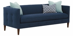 """Jeanette """"Designer Style"""" Modern Button Trimmed Bench Seat Or 2 Seat Sofa"""