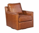"Jefferson ""Quick Ship"" 360 Degree Leather Swivel Chair"
