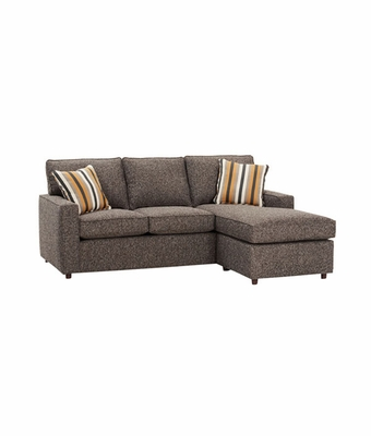 Apartment Sized Convertible Sectional Sofa With Chaise