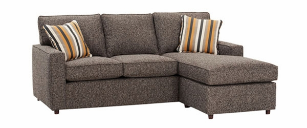 apartment size track arm sectional sofa with reversible chaise club