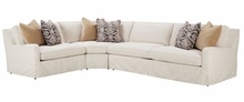 "Joanna ""Designer Style"" Belgian Slope Arm Slipcovered Sectional"