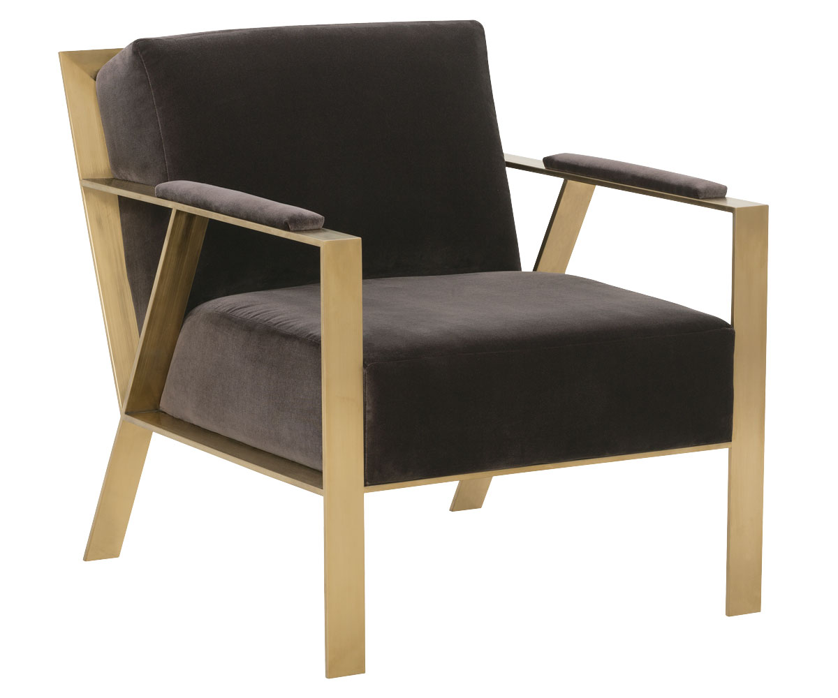 chair w gold metal frame clubfurniture