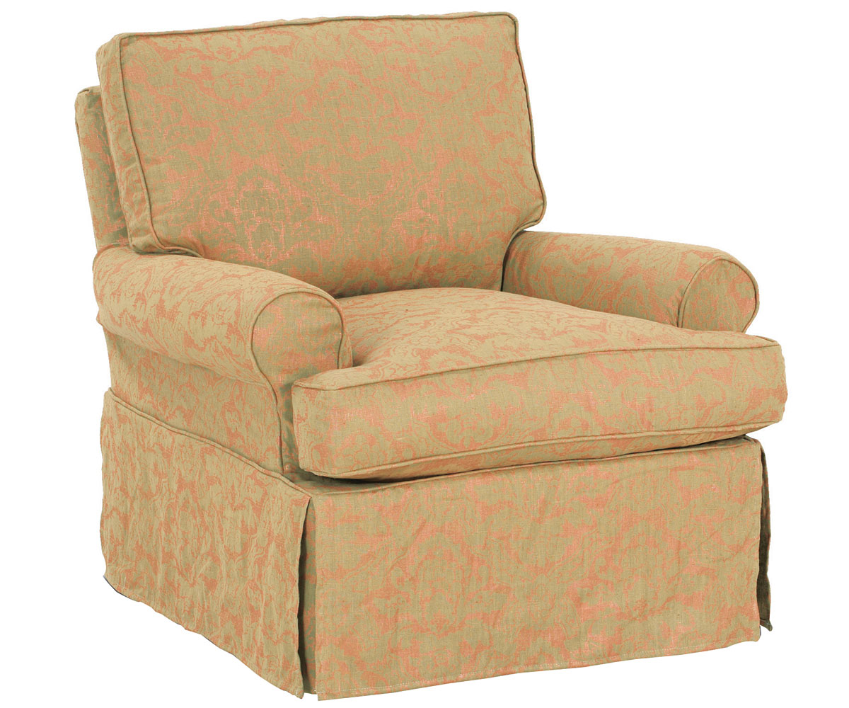 Upholstered Swivel Glider Rocker Slipcovered Accent Chairs
