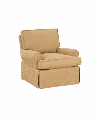 Casual Slipcovered Swivel Glider Accent Chair Club Furniture