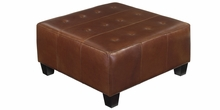 Kelsey Leather Upholstered Oversized Bench Ottoman